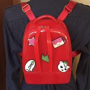 Red Jelly Backpack from Greece